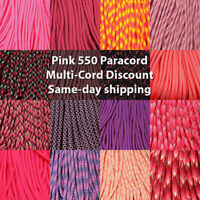 Type 1 95 Cord Paracord Red Blend 100 FT USA MADE /& SELLER same day shipping