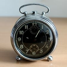 Rare Vintage Made in GERMANY Windup Alarm Clock Complete Good Working #74