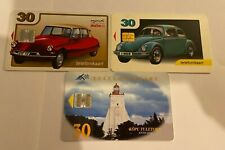 ESTONIA Phonecards - 3 x 30 Cars & Lighthouses