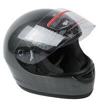 DOT Motorcycle Black Carbon Fiber Flip Up Full Face Street Helmet S M L XL XXL