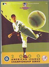 2000 American League Championship Series ALCS Program Yankees vs Mariners