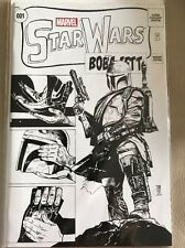 Star Wars #1 Maleev Warp 9 B&W Variant VF/NM