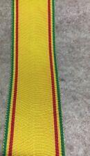Ethiopian ribbon forthe Royal Order of Emperor Menelik Ii ( 1924)