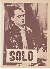 SOLO-JEAN PIERRE MOCKY/SYLVIE BREAL-RARE ORIGINAL YUGOSLAV MOVIE PROGRAM 1969