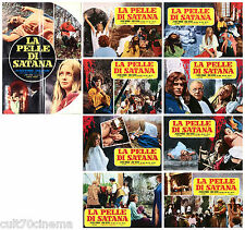 LA PELLE DI SATANA SET LOTTO FOTOBUSTE 8+1 RARE HORROR 1970 TORTURE LOBBY CARD