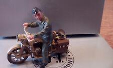 THOMAS GUNN MINIATUES LUFT005B ZUNDAP MOTORCYCLE WITH RIDER DESERT