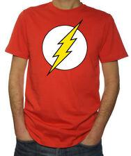 The Flash Logo Sheldon Superhero Super Hero Comic Book Geek Mens New Red T-Shirt
