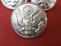 Vintage Lot of 6 Waterbury Co. Silver Colored Eagle Embossed Buttons #2