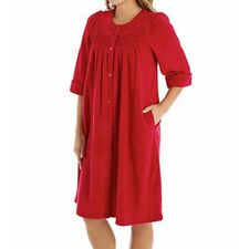354e92c6fa Miss Elaine Robe Brushed Back Terry Short Gripper Robe Red Wn s M NWT  60.00