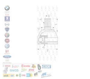 KIT GIUNTO OMOCINETICO LATO RUOTA FORD C-MAX FOCUS II 1.6 TDCI 620028