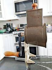 Harras #59 Cast Iron  Tin / Wood Countertop Grinder Grater Germany Antique