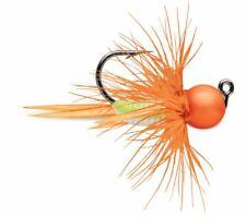 VMC Tungsten Bullfly Jig 1/16 oz Orange Chart Glow Pack of 2 Ice Fishing Jig