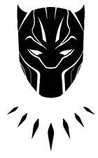 Decal Vinyl Truck Car Sticker - Marvel Comics Avengers Black Panther Mask