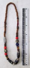 POWERFUL! Vintage Tharu Tibet Tibetan Dzi Bead & Ancient Beads Shaman  Necklace