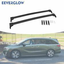 (CROSS BARS) Fit for 2018-2020 Honda Odyssey Black Roof Rack Rails Crossbars