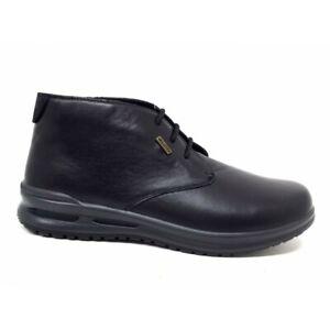 Valleverde VL53823P polacchini scarpe uomo vera pelle nero valletex impermeabili