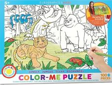 Jigsaw Puzzle Color Me Jungle 100 pieces NEW Paint it Yourself Stress Relief