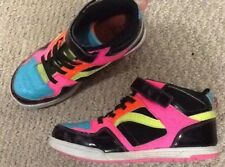 ee36c20bc53c9 OP HIgh TOp Black And NEon Colors Kace Up Athletic Shoes Size 5