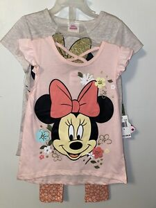 NWT Disney Brand Minnie Mouse 4pc 2set Outfit Sz 5