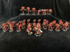 warhammer 40k space marines Army Blood angels Fully Painted