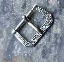 Scrollwork early 1930s/40s chrome-plated vintage watch band buckle 16mm opening
