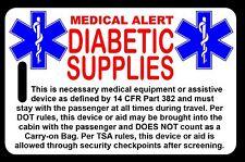 Carry-On Diabetic Supplies  Bag Tag - TSA - CPAP BiPAP APNEA POC