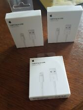 Lot x100 cable usb lightning CHARGEUR IPHONE 5 6 7 8 X TOUCH 100% emballage