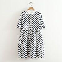 1950s geometric printed retro aline dress uni size blended Cotton