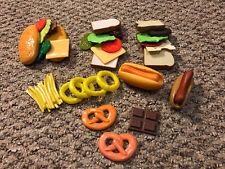 Pretend Play Fake Kitchen Toy Food Lot HamBurger Hot Dog French Fry Sandwich 4