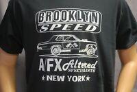 BROOKLYN SPEED A/FX T-SHIRT SPEED SHOP DRAG RACING HOT ROD GASSER ROCKABILLY RAT