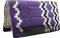 """Showman PURPLE 36"""" x 34"""" Wool Top Western Cutter Style Saddle Pad! HORSE TACK!"""