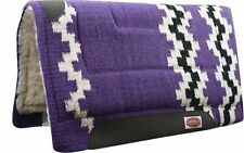 "Showman Purple 36"" x 34"" Wool Top Western Cutter Style Saddle Pad! Horse Tack!"