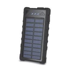 2 usb POWER BANK solare carica BATTERIA ESTERNA DA VIAGGIO ANTIACQUA portatile