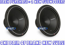 "(2) ROCKFORD FOSGATE P1S2-15 1000W 15"" Punch Stage 1 Single 2 Ohm Car Subwoofers"