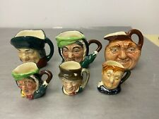 Collection Of 6 Miniature & Tiny Toby Jugs Royal Doulton
