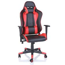 TRESKO® Sedia da ufficio Poltrona ufficio Versione Racer Racing Gaming Rosso