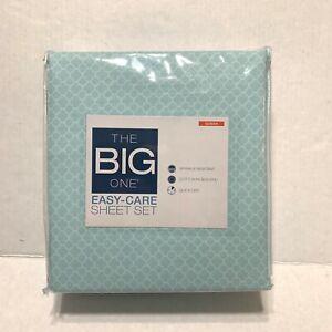 The Big One Queen Sheet Set - Blue Trellis NWT