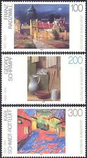 Germany 1995 Paintings/Art/Artists/Cat/Buildings/Abstract/Modern 3v set (n31292)