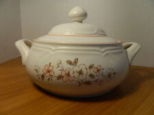 Vintage Country Ware Countryware Peachwood Casserole Dish W/ Lid Serving Bowl