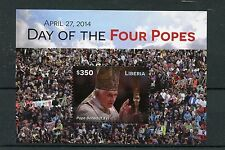 Liberia 2015 MNH Day of Four Popes 1v S/S Pope Benedict XVI