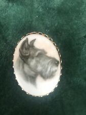Scottish Terrier Pin Pendant Schnauzer Scottie Dog Jewelry