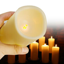 New LED Flameless Candles Multiple Colors Pillar Candle+Remote Timer 3 Units/Set