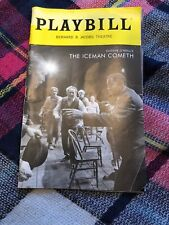 The Iceman Cometh May 2018 Broadway Playbill