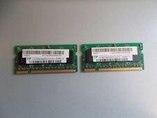 2x Hyni 512MB, Memory RAM for Laptop, 2Rx16 PC2-4200S-444-12, #K-90-7
