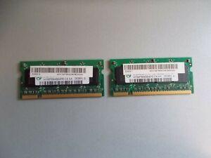 2x Hynix 512MB, Memory RAM For Laptop, 2Rx16 PC2-4200S-444-12, #K-90-7