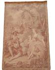 "Vintage Tapestry - 38"" x 25"" - Garden/Woods Scene-Piper-Lady on Swing"