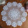 37CM Pure Cotton Handmade Crochet Lace Doily Placemat Round Flower Mat