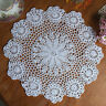 37CM Pure Cotton Handmade Crochet Lace Doily Placemat Round Flower Coaster Mat