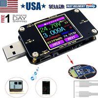 USB Power Meter Tester Bluetooth Type-C LCD Display Multimeter Voltmeter Ammeter