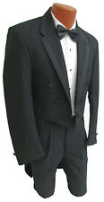 Boys Size 3 Black Chaps Tuxedo Tailcoat Long Tails White Tie Wedding Ring Bearer